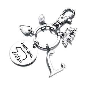 Mama Bear Gifts for Mom Keychain, Mama Bear Keychain Mom Birthday