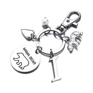 Mama Bear Gifts for Mom Keychain, Mama Bear Keychain Gifts for Mom from Daughter