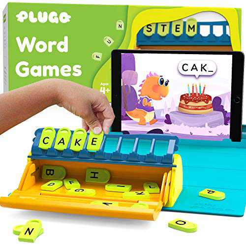 Plugo Letters by PlayShifu - Word Building with Phonics, Stories, Puzzles   5-10 Years Educational STEM Toy   Interactive Vocabulary Games   Boys & Girls Gift (App Based)