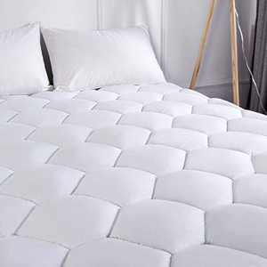 Charm Heart Cal King Mattress Pad Cover - Cooling Pillow Top Cotton Quilted Mattress Pad with 8-21 Inches Stretches Deep Pocket Fits California King Size Mattress