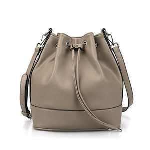 AFKOMST Bucket Bag for Women,Drawstring Shoulder Bag and Designer Ladies Handbags with 2 Shoulder Straps