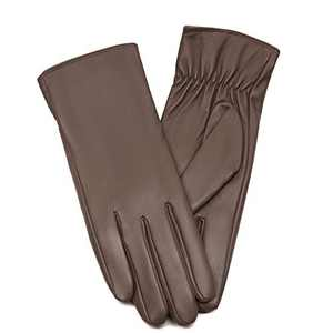 Tochuty Womens Leather Winter Work Cashmere Gloves (Khaki,S)