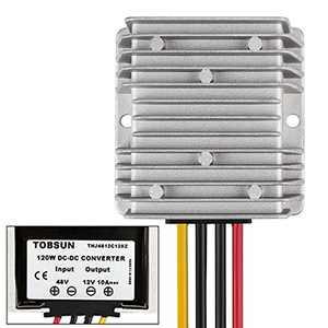 Golf CART Voltage Reducer Converter 48V to 12V 10A 120W DC Voltage Regulator for Club Car
