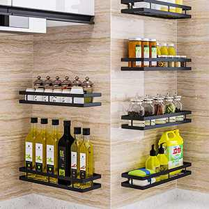 youyangshiye Wall Mount Rack Organizer For Kitchen Seasoning various sizes and combinations Hanging Shelf for Spice Jars(1 pcs), 13.77×4.72×2.28