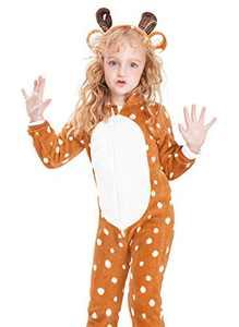 Baby Girls Boys Onesie Unisex Deer Romper Jumpsuit Animal Halloween Costume Pajamas