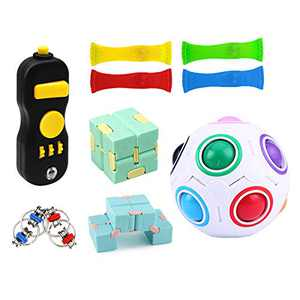 10 Pack Sensory Fidget Toys Set Stress Relief Hand Toys for Kids ADHD ADD Anxiety Autism, Perfect for Birthday Party Favors, Classroom Rewards, Carnival Prizes