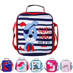 Cartoon Lunch Bag Insulated Cooler Lunch Box, Cute Dinosaur Animal Reusable Tote Outdoor Travel Picnic Storage Bags for Women Kids Students School Work Office