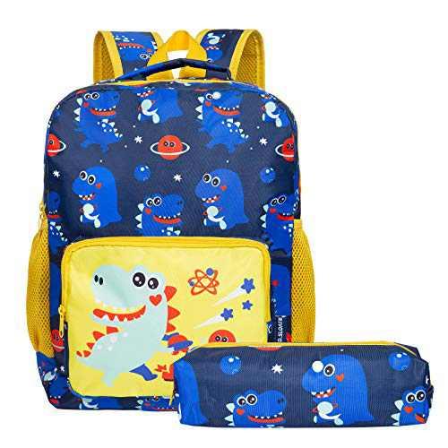 School Backpack for Girls and Boys, Toddler Backpack Kindergarten Preschool (Dinosaur Blue)