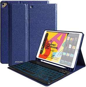 iPad 8th Generation Keyboard Case for iPad 10.2 inch 8th Gen, iPad 10.2 inch 7th Gen, iPad Pro 10.5 / iPad Air 3rd Gen Case with Keyboard, 7 Colors Backlit Detachable Keyboard, Auto Sleep/Wake