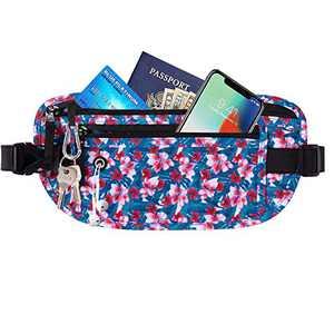 Allfourior Money belt for travel - slim Running belt travel wallet for men & women