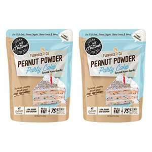 Flavored PB Co. Peanut Butter Powder, Low Carb and Only 45 Calories, All-Natural from US Farms (Party Cake 2-Pack)