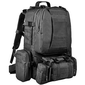 CVLIFE Tactical Backpack Military Army Rucksack Assault Pack Built-up Molle Bag (Black)