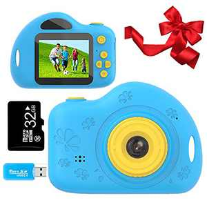 Toys for 4-8 Year Old Boys Kids Camera Gifts for Children Compact Cartoon Camcorder with 1080P and 2.0 Inch IPS Screen for Boy Toys Age 4-8 by Coodoo(32GB SD Card Included)