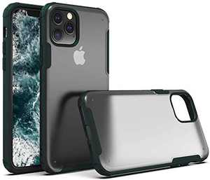 Erudite iPhone 11 Pro Max Case,Rugged Armor Matte Cell Phone Case Clear Protective Shockproof Cool Bumper 11 Pro Max Case Soft TPU Hard Frosted PC Hybrid 6.5 Case for iPhone 11 Pro Max 2019 (Green)