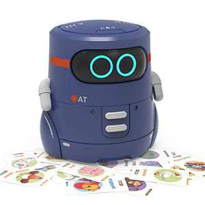 REMOKING Robot Toy, Educational Toy Robot for Kids, Dance, Sing, Guess Card Game, Speak Like You, Touch Sensing, Recorder, Interactive Kids Learning Partner,Smart Robot Gifts for Kids