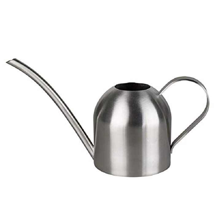 DECMAY 17.6OZ / 500ML Watering Can Stainless Steel, Metal Long Spout Bonsai Mini Watering Pot, for Indoor Outdoor House Planting, Gardening