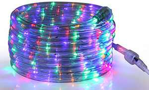 Tupkee LED Rope Light Multi-Color - 24 Feet (7.3 m), for Indoor and Outdoor use - 10MM Diameter - 144 LED Long Life Bulbs Rope Tube Lights
