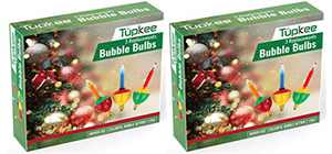 Tupkee Christmas Replacement Bubble Lights – 3 Multi-Color Light Bulbs - Christmas Tree Holiday Decor - 2 Pack (Total 6 Lights)