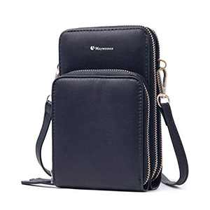 Maymooner Cell Phone Purse,Small Crossbody Bags For Women with Card Slots,Black