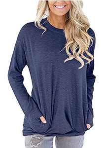 ONLYSHE Fall Sweatshirt Tunics for Women to wear with Leggings Loose Casual Blouse