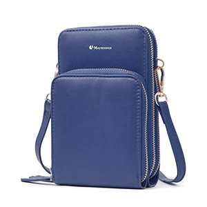 Cell Phone Purse,Small Crossbody Bags For Women with Card Slots,Navy Blue