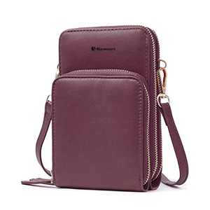 Cell Phone Purse,Small Crossbody Bags For Women with Card Slots,Wine Red
