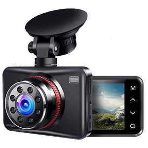 Dash Cam 1080P Full HD Dash Camera for Cars Touch Button Screen Driving Recorder with 170° Wide Angle and Infrared Night Vision, Motion Detection, G Sensor, Loop Recording, Parking Monitor