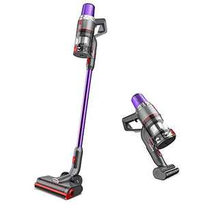 JASHEN V16 4-in-1 Cordless Stick Vacuum Cleaner with 3 Power Levels, 22kPa Suction, Handheld Vacuum Cleaner with Led Panel, Rechargeable Battery, Purple