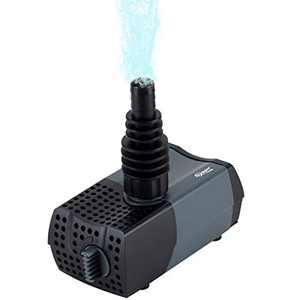 Hygger 10W 185 GPH Submersible Water Pump for Aquarium, Fountain, Water Feature, Bird Bath with 2 Nozzles, Max Lift 4.3ft