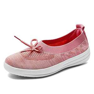 EnllerviiD Women Breathable Mary Jane Shoes Buckle Casual Walking Slip On Sneakers 1803-Red36