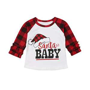 Infant Baby Kid Girl Halloween Christmas Ruffle Long Sleeve T Shirts Cotton Tops Baby Girls Clohtes (Style 18, 3-4T)