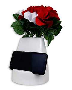 Unique Ceramic Smartphone / Tablet Flower Vase, Ideal Gift and Design for Home and Office