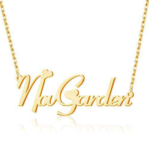 Novgarden Name Necklace Personalized, Sterling Silver Custom Nameplate Necklace Jewelry Dainty Gift for Woman