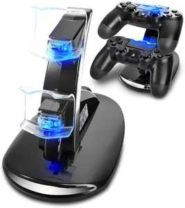 PS4 Controller Charger, ZB ZealBoom Playstation 4 Games Dualshock 4 Dock Charger Stand Holder for PS4, PS4 Slim, PS4 Pro Controller