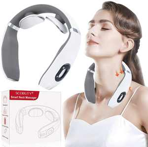 Neck Massager,Multifunction Neck Massager,Electromagnetic Pulse Neck Massager, Neck Massager Electric Cervical Treatment Physical Therapy Multi-Function 6 Modes of Massage 3D Intelligent Design