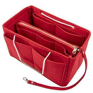 Purse Bag Organizer Insert with Lots of Different Size Spaces Divider Shaper for Speedy Shoulder Hobo Bag Keep Stuff Organized