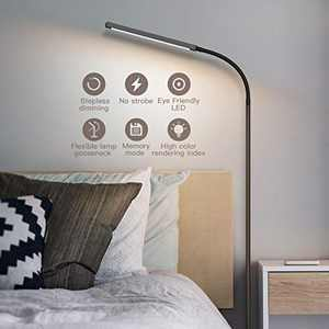 Floor Lamp,Adjustable 2-in-1 Multifunctional LED Floor Lamp & Desk Lamp, Programmable Timer Floor Lamp with Stepless Dimmer & 4 Color Temperatures,Reading Standing Lamp for Living Room Bedroom Office