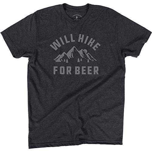 Magic Pine Hiking Shirt, Fun T-Shirt Gift for Outdoors Lovers Charcoal Gray