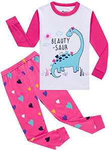 Pajamas for Girls Christmas Baby Heart Clothes Kid Children PJs Cotton Sleepwear 3t