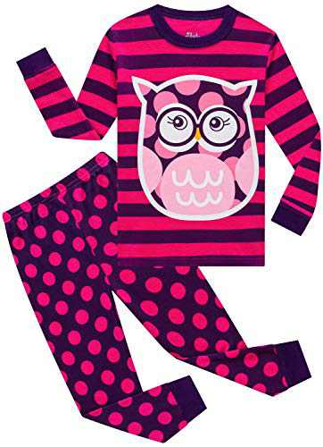 Girls Owl Pajamas Christmas Toddler Kids Cotton Pyjamas Children Sleepwear Pants Set 5t