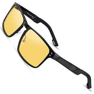 VEOAY HD Night Driving Anti Glare/Blue Glasses Night Vison Glasses Anti Glare Safety Night Driving Glasses (Color2, yellow)