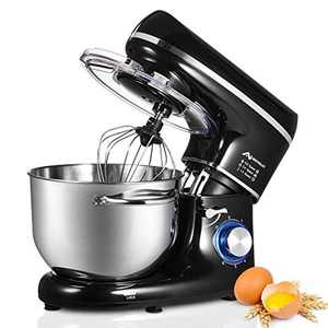 Nidouillet Food Stand Mixer, 6.5L 1500W Electric Cake Blender Mixer, Kitchen Aid Dough Mixers for Baking, 6-Speed Kitchen Appliances with Beater & Dough Hook & Whisk for Egg, Salad, Etc.