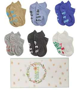 Newborn Socks Gifts Sets Toddler Non Slip Grip Ankle Socks Shower Presents for Newborn Baby Pack Of 6 (GirlsB, S(0-6Months)) …