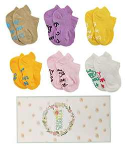 Newborn Socks Gifts Sets Toddler Non Slip Grip Ankle Socks Shower Presents for Newborn Baby Pack Of 6 (GirlsD, M(6-12Months)) …