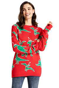 Twotwowin Unisex Women's Christmas Ugly Sweater Novelty Funny Snowflake Holiday Knitted Pullover Sweater