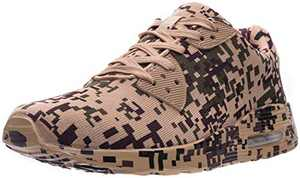 WHITIN Men's Camo Lifestyle Tennis Sneakers, Air Cushion Sole, Size 7 Lightweight Casual Walking Running Sport Workout Fitness Athletic Shoes for Male Camouflage Brown 40