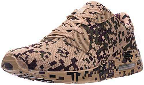 WHITIN Men's Camo Tennis Shoes Walking Casual Fashion Retro Lifestyle Sneakers Fitness Gym Workout Comfortable Lightweight Breathable Male Camouflage Brown Size 12