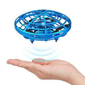 Hand Operated Mini Drone for Kids, Mini Drone Flying Toy UFO Mini Drone Kids Toys Rechargeable Hand-Controlled Flying Ball, Infrared Induction Quadcopter Aircraft 360° Rotating Helicopter