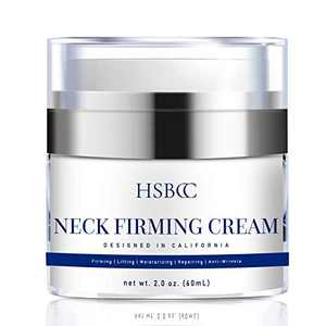 HSBCC Neck Firming Cream with Peptides, Neck Cream, Neck Moisturizer Cream, Anti Wrinkle Anti Aging Neck Firming Cream, Advanced Stem Cell + Collagen Formula For Tightening & Lifting Sagging Skin