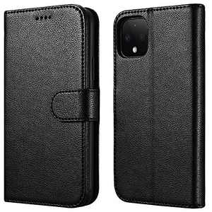 ICARERSPACE Google Pixel 4 XL Wallet Case, Protective Leather Flip Cover Case with Kickstand and Credit Card Holder Slots for Google Pixel 4 XL (6.3 Inch) - Black